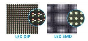 imagem mostrando as diferenças entre os tipos de led